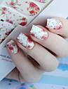 1pcs Nail Sticker Nail Stamping Mall Dagligen Blomma Mode Hög kvalitet