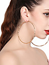 Pentru femei Cercei Rotunzi - Simplu, Declarație Auriu / Argintiu Pentru Cadou / Stradă / Club