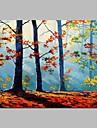 Hang-pictate pictură în ulei Pictat manual - Peisaj Rustic pânză