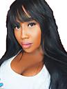 人毛 グルテンフリーレースフロント フロントレース かつら ボブスタイル・ヘアカット レイヤード・ヘアカット バング付き スタイル ブラジリアンヘア ストレート かつら 130% 毛の密度 ベビーヘアで ナチュラルヘアライン 100% バージン 未処理 女性用 ミディアム 人毛レースウィッグ MEODI