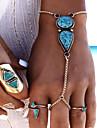 Pentru femei Turcoaz Ring Bracelets - Picătură Vintage, Boem, Boho Brățări Albastru Pentru Carnaval / Concediu