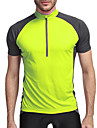 KORAMAN Herre Kortærmet Cykeltrøje - Grøn / Blå Cykel Trøje, Hurtigtørrende, Åndbart, Refleksbånd Polyester, Spandex, Coolmax®