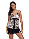 Pentru femei Tankini - Imprimeu, Leopard Halter
