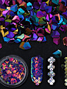 6 Искусственные советы для ногтей Блеск Пайетки Мерцание / 6 цветов маникюр Маникюр педикюр Блеск и сияние / Пайетки