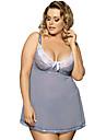 Pentru femei Catifea Mărime Plus Size Babydoll & Slip Pijamale Peteci
