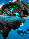 SKMEI Heren Polshorloge Digitaal horloge Japans Kwarts Gewatteerd PU-leer Zwart 50 m Waterbestendig Alarm Kalender Analoog-Digitaal Modieus - Rood Groen Blauw Twee jaar Levensduur Batterij