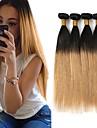 Brasilianskt hår Rak Hårförlängning av äkta hår 3pcs Heta Försäljning Nyans