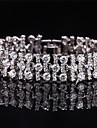 Pentru femei Diamant sintetic Brățară - Argilă Brățări Bijuterii Argintiu / Albastru / Roz Pentru Nuntă Petrecere