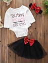 Bebelus Fete Set Îmbrăcăminte Mată Imprimeu Bumbac Acrilic Zi de Naștere Zilnic Sfârșit de săptămână Primăvară Toamnă Manșon Lung Simplu