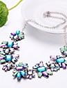 Pentru femei Cristal Coliere - Floare Boem, Boho, Supradimensionat Albastru Deschis Coliere Pentru Petrecere, Serată