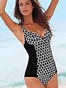 Pentru femei Mărime Plus Size O Piesă - Imprimeu, Geometric Cu Bretele Briefs