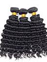 3 Связки Бразильские волосы Крупные кудри Натуральные волосы Человека ткет Волосы 8-28 дюймовый Ткет человеческих волос Расширения человеческих волос Жен.