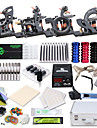 Tattoo Machine Professional Tattoo Kit 4 cast iron machine liner & shader High Quality LCD power supply 2 x stainless steel grip 50