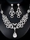 Dámské Šperky Set Evropský, Módní Zahrnout Stříbrná Pro Svatební Denní