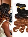 Brasilianskt hår buntar Obehandlad hår Kroppsvågor Hårförlängning av äkta hår 3pcs Heta Försäljning Nyans