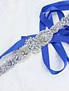 Satin/Tul Nuntă Party / Seara Cercevea With Cristal Perlă Artificială Cristale/ Strasuri Paiete Pentru femei Panglici