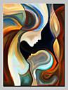 Peinture a l\'huile Hang-peint Peint a la main - Personnage Moderne Toile