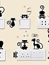 Animale Perete Postituri Autocolante perete plane Autocolante de Perete Decorative Autocolante Întrerupătoare, Vinil Pagina de decorare