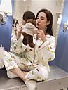 Pentru femei Costume Pijamale-Imprimeu,Floral