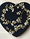 Imitație de Perle Sârmă de cupru Banderolele Accesoriu de Păr Lantul Capului with Perlă Artificială Detalii Cristal 1 buc Nuntă Diadema
