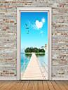 Landskap Stilleben Väggklistermärken Väggstickers Flygplan Väggstickers i 3D Dekrativa Väggstickers Fotostickers Dörrklistermärken, Vinyl