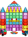 Magnetic Blocks Magnetic Tiles Building Blocks 60 pcs Geometric Pattern Transparent Body Boys\' Girls\' Toy Gift