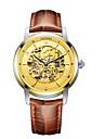 CADISEN Bărbați Mecanism automat Ceas Elegant  Ceas La Modă Japoneză Rezistent la Apă Ceas Casual Piele Autentică Bandă Elegant Modă