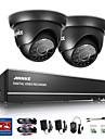 sannce® 4ch 720p dvr övervakningssystem med 4hd 1280 * 720tvl utomhus säkerhetskameror