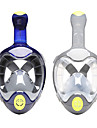 Dykning Masker Snorkelmaske Helmaske Undervands 180 grader Enkelt Vindue - Dykning Snorkling PC silica Gel - til Voksen Grå Blå / Lækagesikker / Anti-Tåge