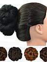 Blomster Hår knold Sexet dame Snørelukning Syntetisk hår Hårstykke Hårpåsætning Blomster Rødbrun / Mørk Brun /  Mørk Kastanjerød / Mørkebrun / Mellem kastanjerød