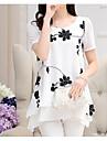 bluza de munca din poliester pentru femei - florala, print