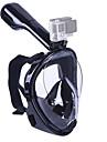 Snorkelmask Dykmasker Läckagesäker 180° Heltäckande ansiktsmasker Simmning Dykning Silikon