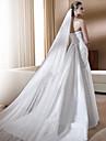 Un nivel Stil Floral Plasă Rochie Convertibilă Lung de Mireasă Euramerican Nuntă Accent / Decorativ Accesorii de păr Voal de Nuntă