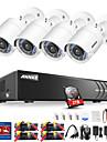 annke® 4ch 1080p cctv sistem de camere de securitate 1tb hd cu camere de 4pcs ip
