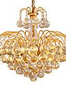 6-Işık Sıva Altı Monteli Ortam Işığı Eloktrize Kaplama Metal Kristal, Ampul Dahil 110-120V / 220-240V Sıcak Beyaz