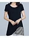 Pentru femei Tricou De Bază - Bloc Culoare Peteci
