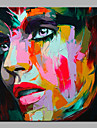 Hang målad oljemålning HANDMÅLAD - Abstrakt Människor Moderna Duk
