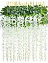 פרחים מלאכותיים 1 ענף פסטורלי סגנון צמחים פרחים לקיר