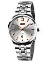SKMEI Bărbați Ceas Elegant  Calendar / Rezistent la Apă / Iluminat Oțel inoxidabil Bandă Elegant / minimalist Argint
