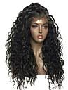 Remy kosa Full Lace Perika Stepenasta frizura stil Brazilska kosa Wavy Crna Perika 130% Gustoća kose s dječjom kosom Za crnkinje Crna Žene Kratko Srednja dužina Dug Perike s ljudskom kosom Aili Young