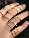 Posude Prestenje knuckle ring / Rings Set / Prstenasti set - Legura Jednostavan, Europska, Moda 7 Zlato Za Dnevno