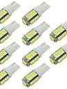 10pcs T10 Mașină Becuri 2W SMD 5050 90lm 9 LED Lumini de interior For Παγκόσμιο / Motoare generale Παγκόσμιο Universal