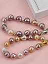 Pentru femei Perle Apă dulce Pearl Bratari Strand - Argilă, Placat Auriu, Apă dulce Pearl Έθνικ, Modă, Elegant Brățări Auriu / Argintiu Pentru Petrecere Cadou