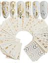 30 pcs Artificial Nail Tips Nail Art Kit Full Nail Stickers nail art Manicure Pedicure Portable Nail Decals Daily
