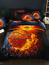 Duvet Cover Sets 3D Poly / Cotton Reactive Print OtherBedding Sets / 300 / 3pcs (1 Duvet Cover, 2 Shams)