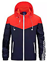 Bărbați Capișon Regular Jachetă Sport Ieșire Sport & Outdoor, Geometric Primăvară Peteci Acrilic Poliester