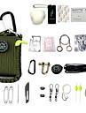 Kit de survie Camping / Randonnee / Speleologie Tout-En-1 Multifonction Urgence Metallique Coton / Polyester 29pcs