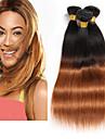 Cheveux Bresiliens Droit Cheveux Vierges / Cheveux humains A Ombre 3 offres groupees 8-26pouce Tissages de cheveux humains Sans odeur /