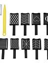 11pcs Nail Art Aracı Tırnak Araçları Tırnak Boyama Araçları Çok-tonlu tırnak sanatı Manikür pedikür Neon ve Parlak Günlük