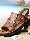 Bărbați Pantofi Piele Vară Confortabili Sandale Maro / Kaki
